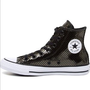 Converse metallic snakeskin leather high top